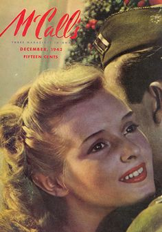 December, 1943 cover of McCall's magazine - Wartime Christmas
