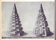 Perspectiva Corporum Regularium - Wenzel Jamnitzer 1568 e by peacay Mathematics Geometry, Geometry Shape, Geometry Pattern, Sacred Geometry, Geometric Drawing, Geometric Art, Op Art, Euclidean Geometry, Renaissance Kunst