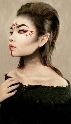 This make up remind me of a japanese dragon!