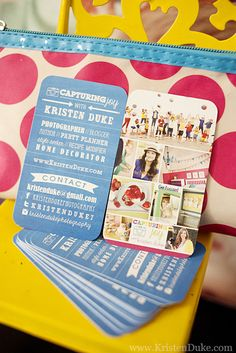 SNAP Creative Blogging Conference - Way to get everything on one business card @733!
