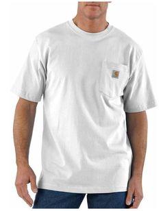09f2936f43 Carhartt Men's Workwear Pocket Short Sleeve T-Shirt White. Work 'N Gear