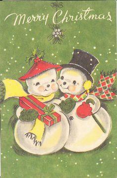 vintage card for Christmas
