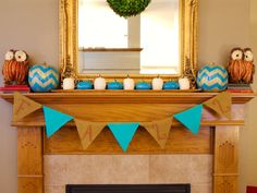 Fall Garland with Chevron Pumpkins http://www.restorationredoux.com/?p=6275
