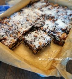 Healthy Cake, Healthy Sweets, Healthy Baking, Dutch Recipes, Sweet Recipes, Baking Recipes, Sugar Free Recipes, Easy Snacks, Brownie Recipes