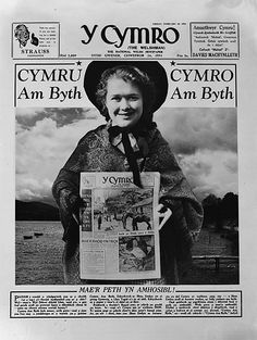 First page of 'Y Cymro' for St David's Day Learn Welsh, Welsh Lady, Wales Flag, Welsh Language, Saint David's Day, Six Nations, How Lucky Am I, Childhood Days, Cymru