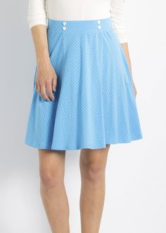 certain seduction skirt, deep lagon, Rock, Blau