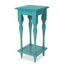 kate and laurel sophia wood plant stand end table with sh https - Tall End Table