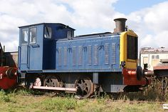 Built by Vulcan Drewry, Newton le Willows (No. of as a standard WD War Department shunter. At Long Marston Depot, Warwickshire, September Locomotive, Trains, Diesel, Engineering, September, Germany, British, Around The Worlds, War