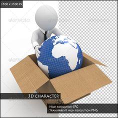 Man Keeping the Earth in a Cardboard Box