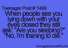 Haha #teenagerposts