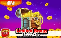 ☆ Limited Bonus ☆First 100 Players Bank 75,000 Chips >  < Best Of Luck!  #freeslots #casino