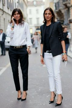 Black and white officewear