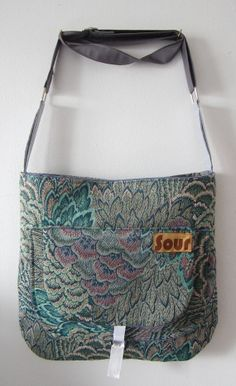 Top Side Peacock Pattern and Lavender Open Top by Sourbagsandtotes, $38.00