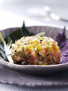 Recette tartare de saumon à la mangue - Cuisine / Madame Figaro