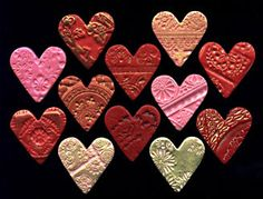 polymer clay valentine hearts