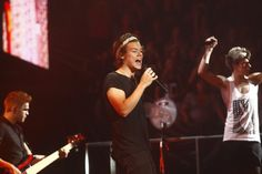 (Chris Detrick  |  The Salt Lake Tribune)  Harry Styles and Niall Horan of One Direction perform at Maverik Center Thursday July 25, 2013.