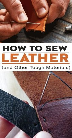 It may seem like sewing is an exclusively feminine pursuit (outside the tailoring profession), but dating back to the Paleolithic age, rudimentary sewing techniques were a vital necessity for staying alive. Stitching Leather, Leather Tooling, Leather Purses, Leather Wallet, Leather Jewelry, How To Stitch Leather, Leather Purse Diy, Leather Totes, Diy Leather Projects