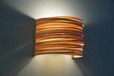 "Wall Lamp "" Click stripes "" - Wood Veneer Wall Light- Natural Minimalist Style…"