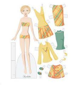 Resultado de imagen para fashion friday paper dolls