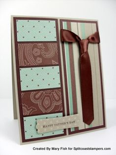 Card with tie