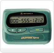 The Motorola Express Extra Numeric Pager is a front display Alpha or numeric Pager, which as standard provides a 32-digit scrolling screen, tone alert and vibrate.  Features:  Built-In alarm Clock Vibrating alert Low Battery Alert Duplicate Message Management Selective Erase Time Date Stand By Locks Important Messages Programmable On/Off Time 7 User Selectable Alerts Reminder Alert 20 Message Slots / 400 Total Characters Erase All Saves Messages When off QuickWords Message Time Stamping…
