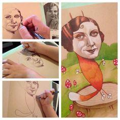 dibujos hendricks http://www.paraloscuriosos.com/madre-dibuja-caras-y-deja-a-su-hija-de-4-anos-dibujar-los-cuerpos-mira-como-acaba-este-adorable-arte-abstracto/2/