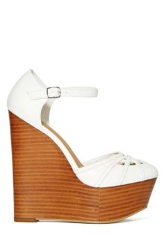 Shoe Cult Janis Wedge - White