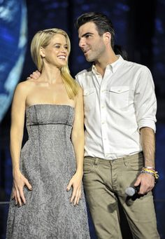 Actress Alice Eve and actor Zachary Quinto