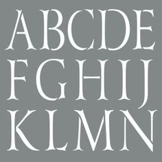 Americana Decor 10 in. x 10 in. Classic Alphabet Stencil $6.98