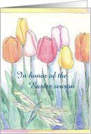 Easter Tulip Garden Party Invitation Card by Greeting Card Universe. $3.00. 5 x 7 inch premium quality folded paper greeting card. Easter Party invitations to celebrate any upcoming event are available at Greeting Card Universe. Easter Party invitations are always more memorable when they are sent the old-fashioned way. Allow Greeting Card Universe to handle all your Easter Party invitation needs this year. This paper card includes the following themes: easterbrunch pa...
