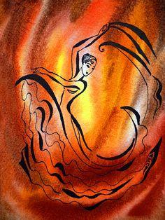 'Dancing Fire I' - http://irina-sztukowski.artistwebsites.com/featured/dancing-fire-i-irina-sztukowski.html #fineart #art #artwork #decoratehome #artgift #gift #painting #homedecor
