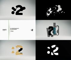 "new visual identity of our national tv ""Two""    With love by MILK"