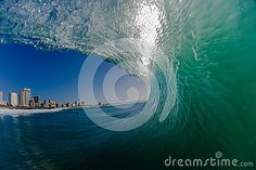 Hollow Ocean Wave Water View Stock Image - Image of morning, photo: 26259107 Images Of Colours, Water House, Surf City, Water Photography, Pictures Images, Ocean Waves, Curling, Wide Angle, Places To Visit