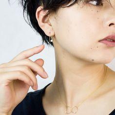 Melissa McArthur Jewellery メリッサマッカーサー シンプル ピアスAmer Bijoux