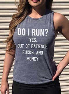 Do I run? ha haha ahahahahahaha.