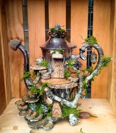 Whimsical Foraged Fairy Houses You Would Think Were Actually Made By Fairies - Garden Therapy® fairy garden ideas Whimsical Foraged Fairy Houses You Would Think Were Actually Made By Fairies Garden Crafts, Garden Art, Garden Design, Garden Whimsy, Garden Tools, Fairy Garden Houses, Fairies Garden, Fairy House Crafts, Mini Fairy Garden