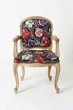 anthro- embroidered chair
