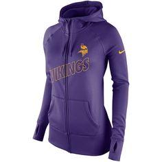 Nike Minnesota Vikings Heather Black Gridiron Gray Full-Zip Hoodie ...