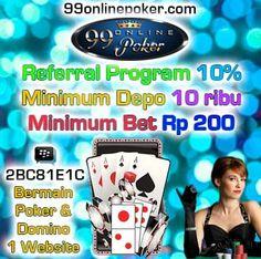 Agen Domino Online : 99onlinepoker adalah agen domino online indonesia yang murah dan terjangkau hanya dengan minimal deposit 10 rb anda sudah dapat merasakan permainan asli judi Online indonesia yang terpercaya  http://99onlinepoker.net/agen-domino-online-deposit-10-rb/