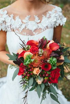 Featured Photographer: Kismet Visuals, Via The Knot; Wedding bouquet idea.