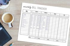 Debt Tracker, Finance Tracker, Money Planner, Budget Planner, Finance Organization, Printable Organization, Paying Off Credit Cards, Finance Quotes, Letter Size Paper