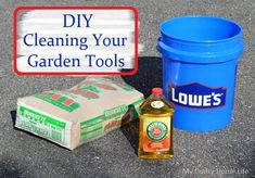 How to clean your gardening tools before spring starts.