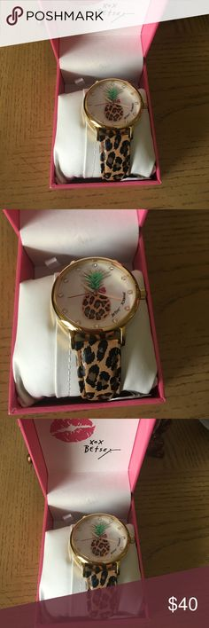 Tropical Betsey Johnson pineapples watch. Brand new Betsey Johnson pineapple watch. Betsey Johnson Accessories Watches