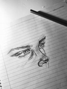 cute drawings of animals Pencil Art Drawings, Art Drawings Sketches, Sketch Art, Cute Drawings, Inspiration Art, Art Inspo, Drawing Eyes, Painting & Drawing, Drawing Hand