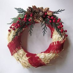 Christmas Wreath Rustic Christmas Wreath by InTheBluebellWoods, $22.00