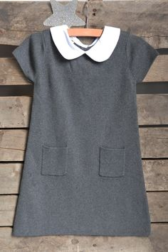 The Outlet :: CHARCOAL TRAPEZE DRESS SIZE 3 - Olive Juice   Childrens Clothing   Girls Dresses   Kids Clothes   Girls Clothing   Classic Kids Clothing