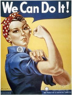 Wwii: Rosie The Riveter Photograph - Wwii: Rosie The Riveter Fine Art Print