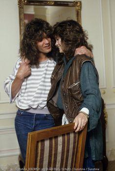 Newlyweds Eddie Van Halen & Valerie Bertinelli exchange loving glances