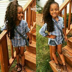 Phoenix Kiyomi - 6 Years • Mexican & African American ❤ FOLLOW @beautifulmixedkids on instagram