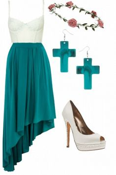 Teal summer outfit #style #inspiration